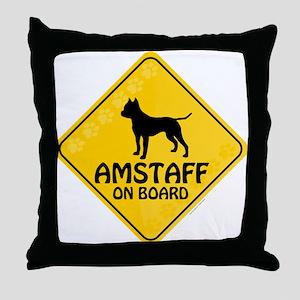 Amstaff On Board Throw Pillow