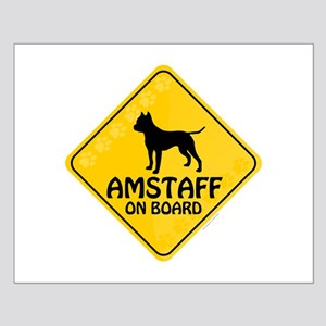 Amstaff On Board Small Poster