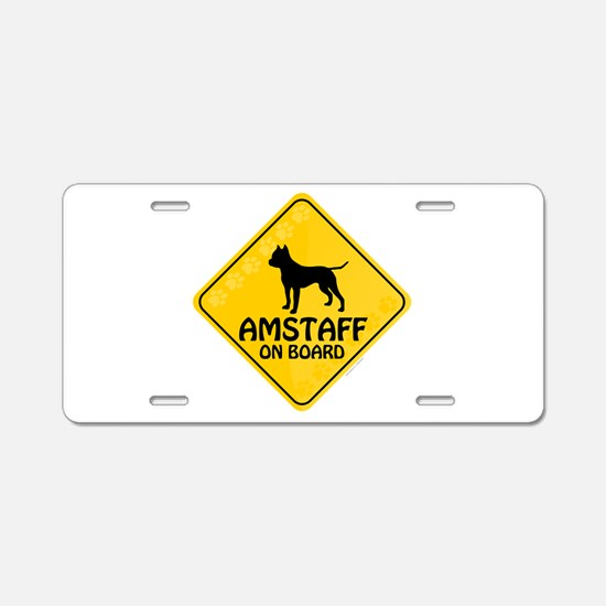 Amstaff On Board Aluminum License Plate