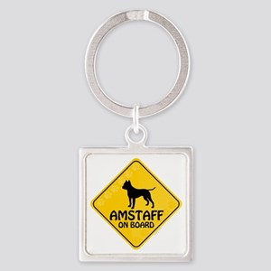 Amstaff On Board Square Keychain