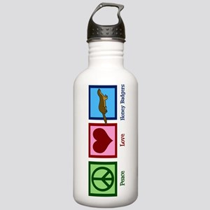 Peace Love Honey Badgers Stainless Water Bottle 1.