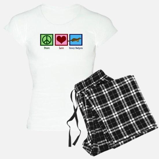 Peace Love Honey Badgers Pajamas