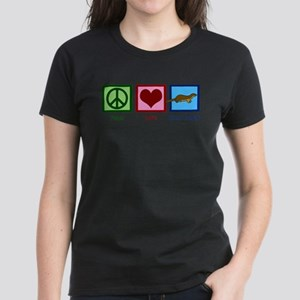 Peace Love Honey Badgers Women's Dark T-Shirt