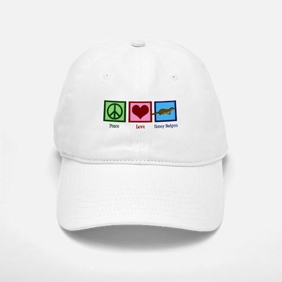 Peace Love Honey Badgers Baseball Baseball Cap