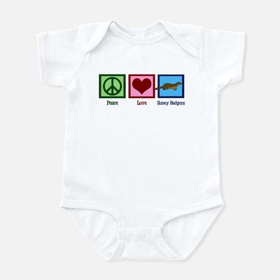Peace Love Honey Badgers Infant Bodysuit