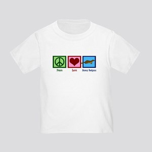 Peace Love Honey Badgers Toddler T-Shirt