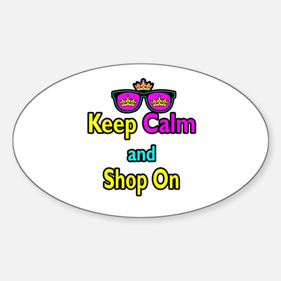 Crown Sunglasses Keep Calm And Shop On Decal
