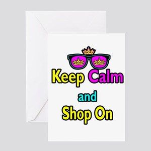 Crown Sunglasses Keep Calm And Shop On Greeting Ca