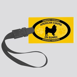 American Eskimo On Board Large Luggage Tag