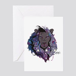Starlight Leo Greeting Card