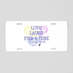 Love Laugh Cure Colon Aluminum License Plate