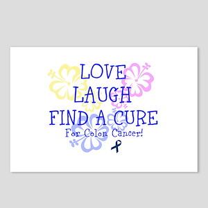 Love Laugh Cure Colon Postcards (Package of 8)
