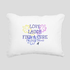 Love Laugh Cure Colon Rectangular Canvas Pillow
