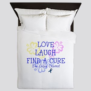 Love Laugh Cure Colon Queen Duvet