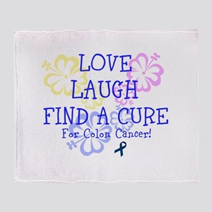 Love Laugh Cure Colon Throw Blanket