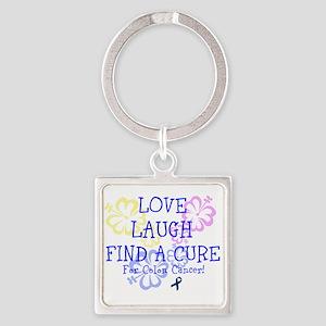 Love Laugh Cure Colon Keychains