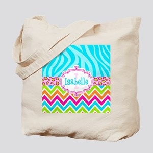 Bright Chevron Animal Print Tote Bag