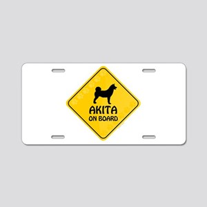 Akita On Board Aluminum License Plate