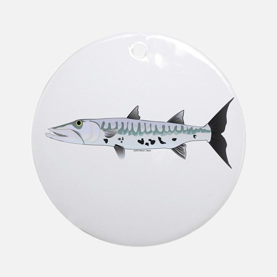Great Barracuda fish Ornament (Round)