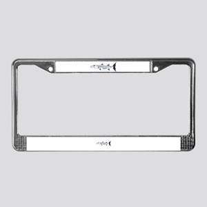 Great Barracuda fish License Plate Frame