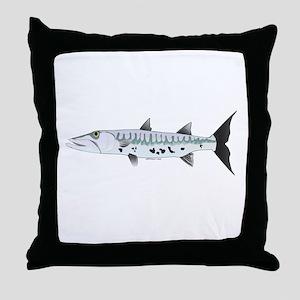 Great Barracuda fish Throw Pillow