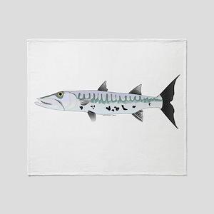 Great Barracuda fish Throw Blanket