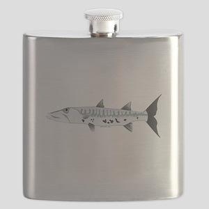 Great Barracuda fish Flask
