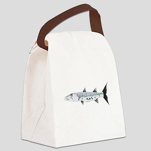 Great Barracuda fish Canvas Lunch Bag