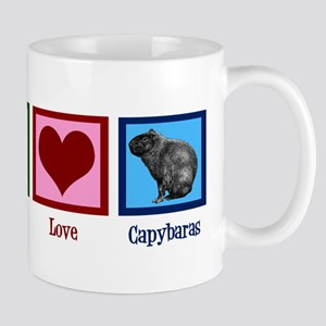 Peace Love Capybaras Mug