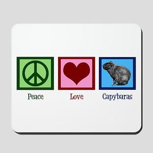 Peace Love Capybaras Mousepad