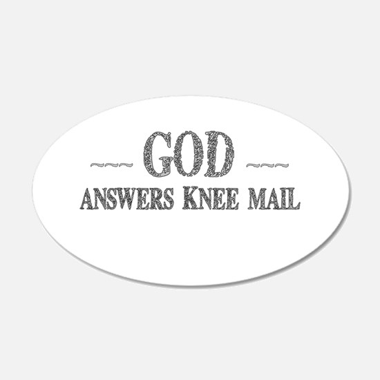God Answers Knee Mail Wall Decal
