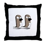 Jim and Terry Throw Pillow