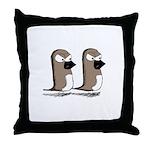 Jim and Terry Throw Pillow