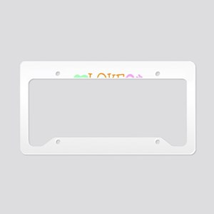 Love Laugh Cure Leukemia License Plate Holder