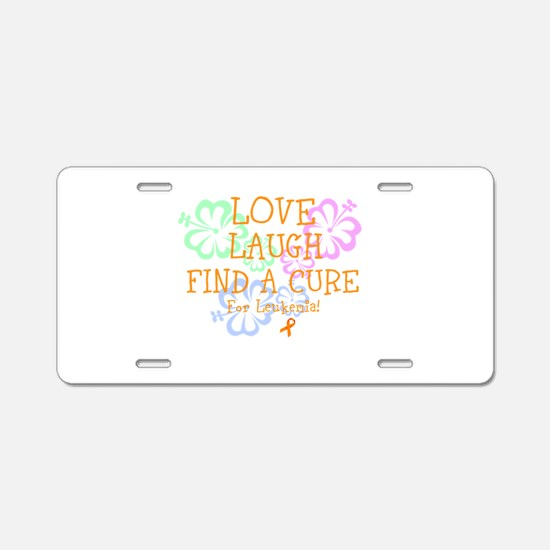 Love Laugh Cure Leukemia Aluminum License Plate