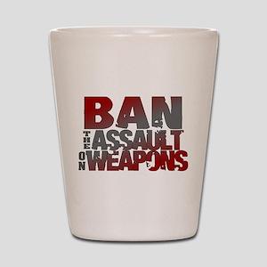 Ban Assault Weapons Shot Glass