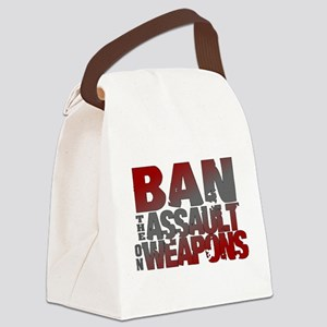 Ban Assault Weapons Canvas Lunch Bag