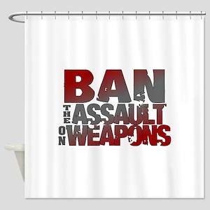 Ban Assault Weapons Shower Curtain