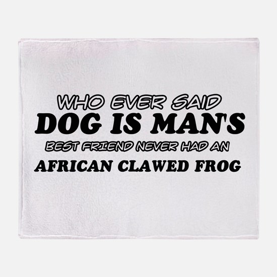 African Clawed Frog pet designs Throw Blanket