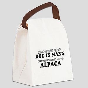 Alpaca pet designs Canvas Lunch Bag