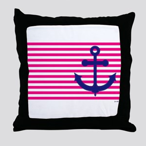 Anchors Away Flag w/Lilly Pulitzer Throw Pillow