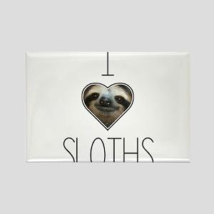i love sloths Rectangle Magnet
