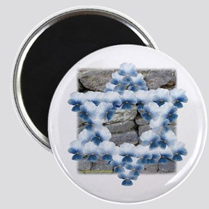 Star of David Flowers Magnet