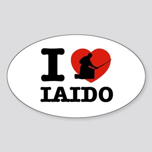 I love Laido Sticker (Oval)
