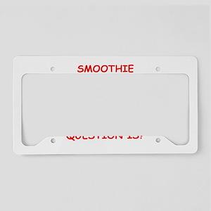 smoothie License Plate Holder