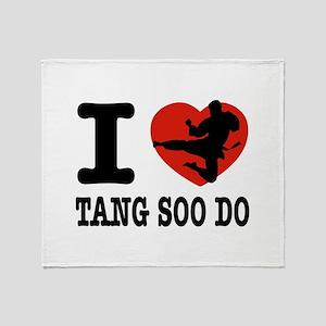I love Tang Soo Do Throw Blanket