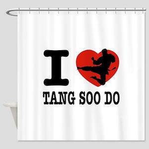 I love Tang Soo Do Shower Curtain