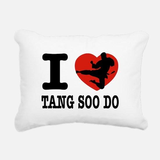 I love Tang Soo Do Rectangular Canvas Pillow