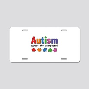 Autism Expect the unexpected Aluminum License Plat