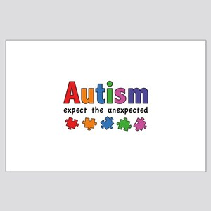Autism Expect the unexpected Large Poster